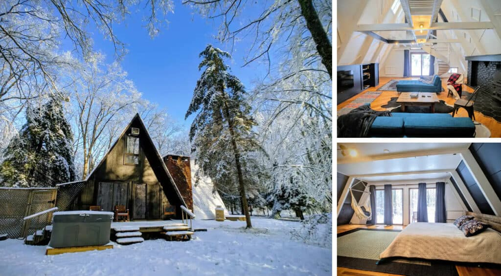 A-Frame with Hot Tub and Skiing Adventures