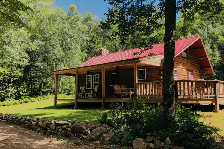 Beautiful Secluded Log Cabin Stark New Hampshire Pet Friendly