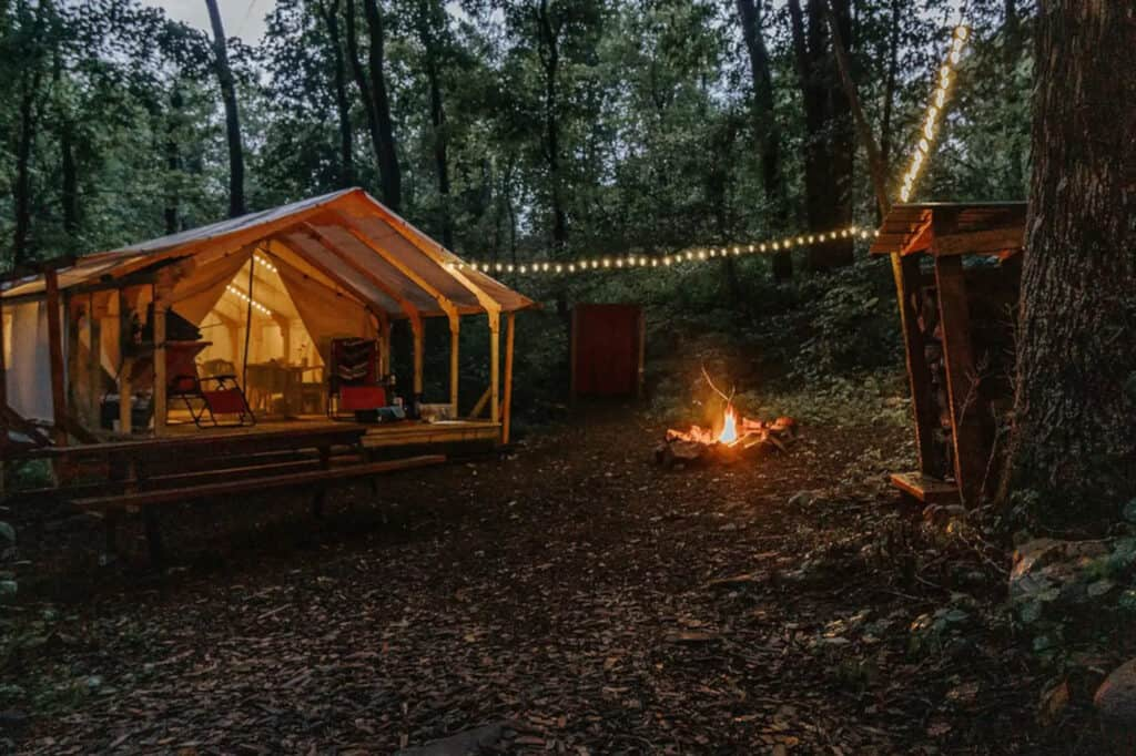 Glamping Tent Situated on 7 Acres