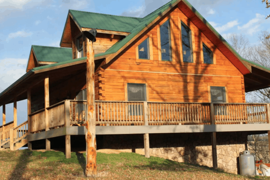 Rustic Dog Friendly Cabin West Virginia Foggy River Lodge on the Shenandoah