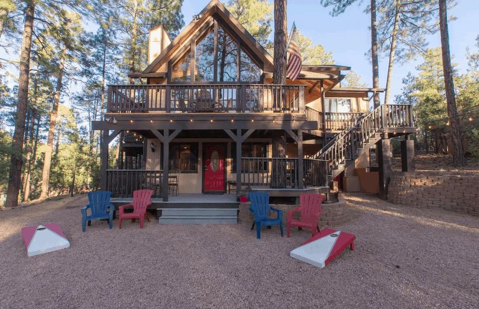 dog friendly cabin Northern AZ