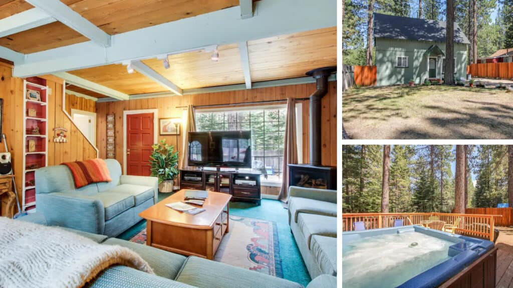Dog Friendly Colorful Cabin with Large Deck and Hot Tub