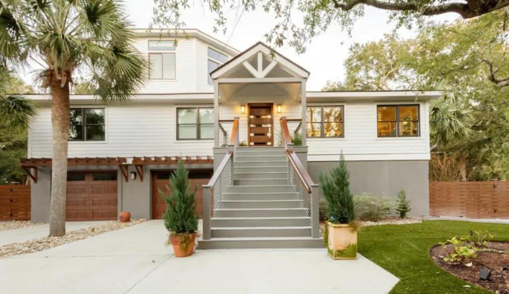 Isle of Palm Coastal Modern Home with Pool
