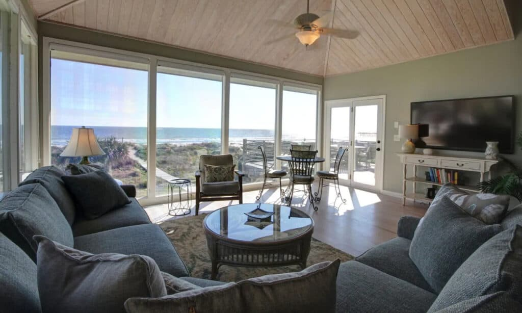 Isle of Palm Dog Friendly Oceanfront Home on Quiet Street