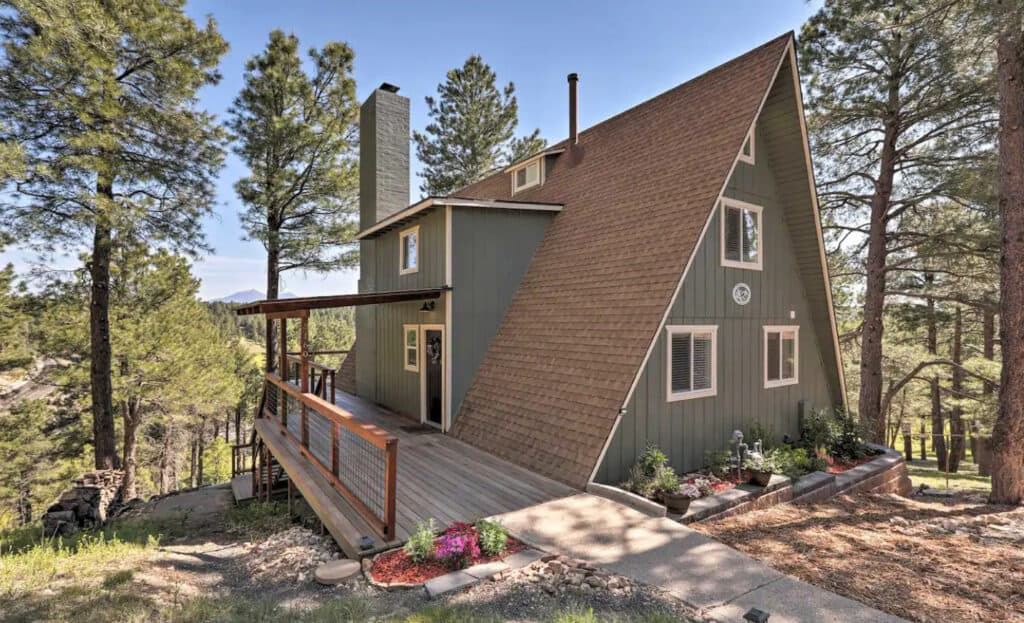 Kachina Village A-Frame with Deck & Views