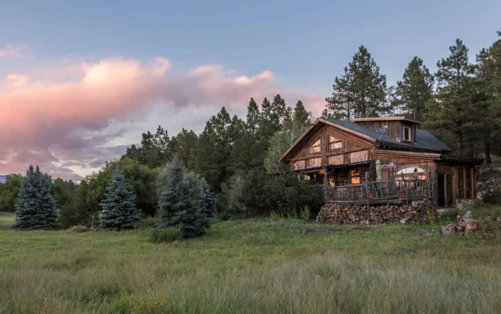Rustic Log Cabin with Fenced Yard