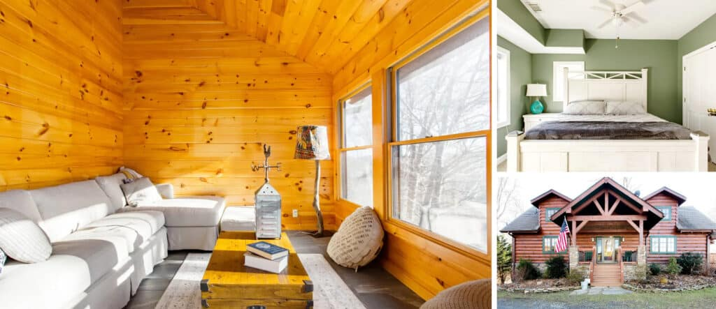 Wood Cabin with Separate Mother-in-Law Apartment