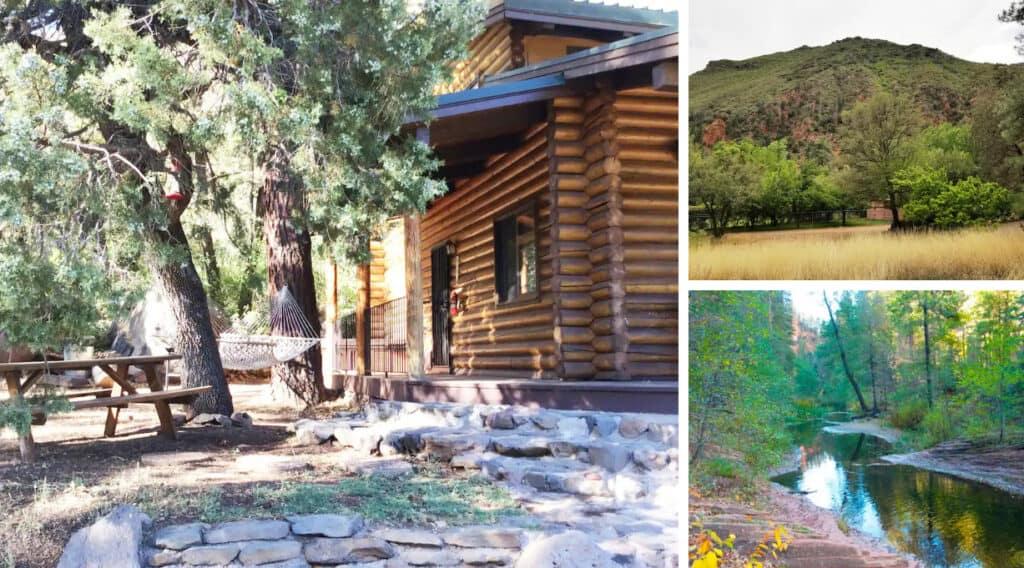 Charming Log Cabin Near Oak Creek Pet Friendly Cabin