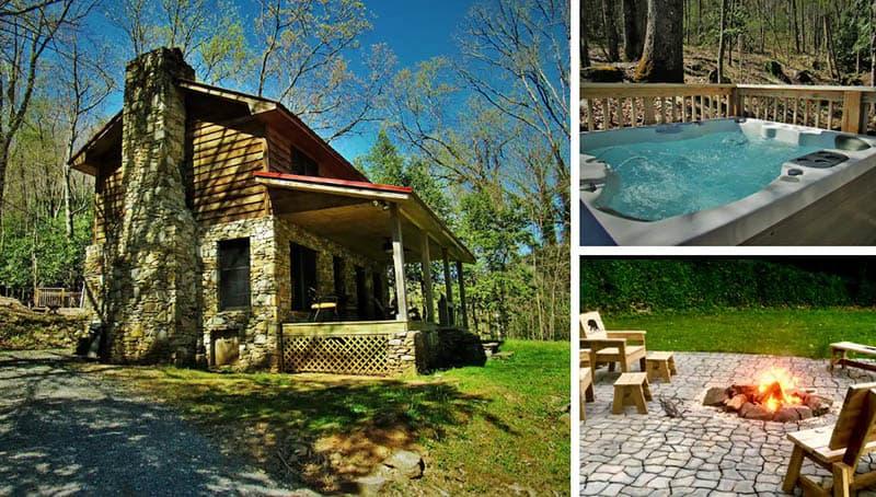 Serenity Falls Cabin in Cherokee NC