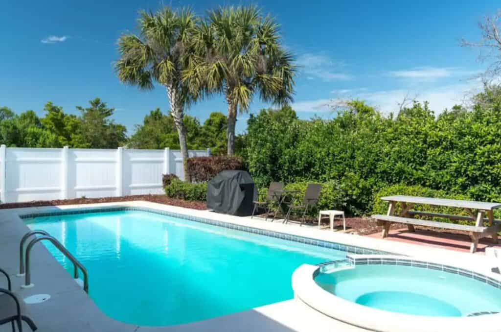 Cozy Home with Private, Gated Beach Miramar that is Pet Friendly